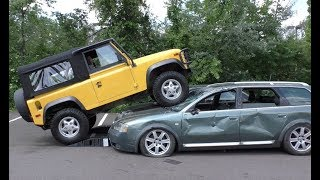 Download I Crushed an Audi and a Kia with My Land Rover Defender Video