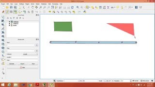 Download create vector layer point,line,polygon in QGIS. Video