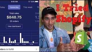 Download $848 FIRST DAY ON SHOPIFY! HERES HOW I DID IT Video