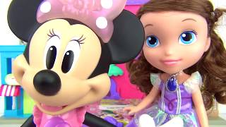 Download Disney Jr. MINNIE MOUSE Picnic Basket Playset, Play-doh Princess Sofia the First, Frozen Anna TUYC Video