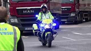Download London Marathon Police Escorts - Police Bikes, Lorries and Action! Video