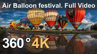 Download 360°, The Golden Ring of Russia Air-Balloon Festival. 4К aerial video Video