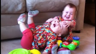 Download Funny Twin Babies Fighting Over Stuff Compilation (2017) Video