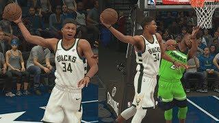 Download NBA 2K18 My Career - Giannis Dunks on Butler! PS4 Pro 4K Gameplay Video
