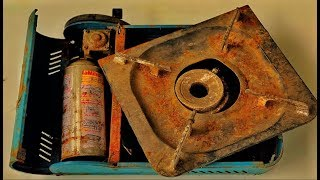 Download Restoration Old mini gas stove | Restore Rusty kitchen tool | Household appliances restoration Video