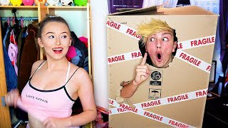 Download I Mailed Myself in a Box to my Girlfriends House & IT WORKED... (Human Mail Challenge) Video