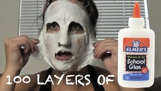 Download 100 LAYERS OF... GLUE ON MY FACE?! Video
