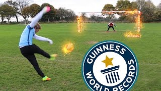Download *NEW* WORLD RECORD!! FOOTBALL CHALLENGES Video