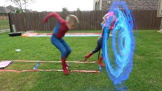 Download SPIDER-MAN Spider-verse GIANT Backyard Board Game for Kids! KIDCITY Video