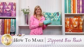 Download How to make a Zippered Box Pouch | a Shabby Fabrics Sewing Tutorial Video