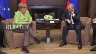Download Russia: Putin and Merkel kick off talks in Sochi Video