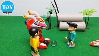 Download đồ chơi Doremon chế hài - Nobita và Suneo thi bắn bi Robot phần 1 - doraemon toy for kid Video