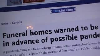 Download HEALTH HEADZ UP: CANADA WARNS FUNERAL HOMES 2 PREPARE 4 PANDEMIC Video