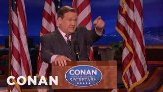 Download Andy Returns As Conan's Sean Spicer - CONAN on TBS Video
