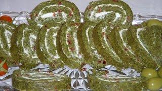 Download رولت اسفناج Spinach Roll | Rolet Esfenaj Video