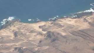 Download Incredible landing at Lanzarote airport. HD Original Sound Video