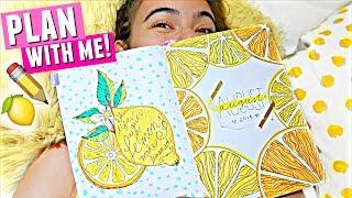 Download PLAN WITH ME! 🍋📅 | August 2018 Bullet Journal Setup (Lemon theme) Video