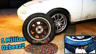 Download We Filled Our Tires With a MILLION ORBEEZ!! Video