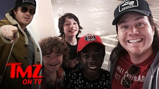 Download Walking Dead' Star Josh McDermitt Was Spotted With The Cast Of 'Stranger Things' | TMZ TV Video
