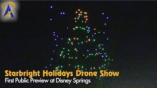 Download First public showing of Starbright Holidays drone show at Disney Springs Video