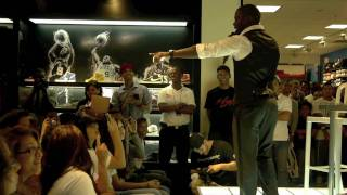Download Kevin Hart intro at Jordan Fly Wade launch, House of Hoops Video