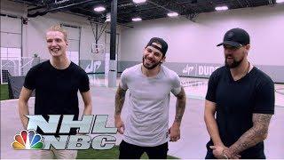 Download Seguin, Benn, Klingberg battle with Dude Perfect I NHL I NBC Sports Video