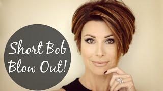 Download Short Bob Blow Out For Sleek Volume! Video