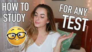 Download How to Study for ANY TEST!   Study Tips and Ultimate Study Guide Video