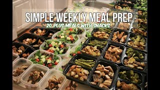 Download Simple Weekly Meal Prep - 20 Plus Healthy Meals With Snacks Video