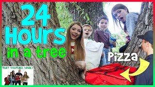 Download 24 Hours In A Tree! We ordered PIZZA!! / That YouTub3 Family Video
