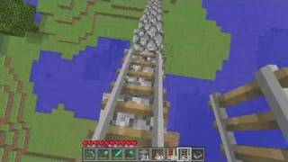 Download Minecraft Tutorial: How to Make a Minecraft Roller Coaster Video