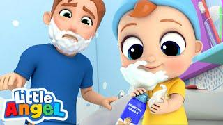 Download I Wanna Be Like Daddy | Little Angel Nursery Rhymes & Kids Songs Video