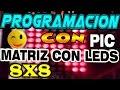 Download despalazamiento de letras en matriz(8x8) con el pic16f84a Video