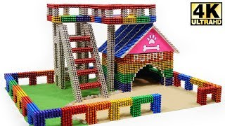 Download DIY - How To Build Amazing Puppy Dog House from Magnetic Balls (Magnet ASMR) | Magnetic Man 4K Video