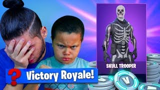 Download IF 9 YEAR OLD BROTHER LOSE THIS SOLO GAME I TAKE AWAY HIS SKULL TROOPER! FORTNITE BATTLE ROYALE! Video