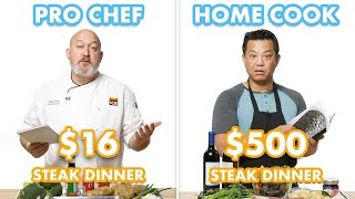 Download $500 vs $16 Steak Dinner: Pro Chef & Home Cook Swap Ingredients | Epicurious Video