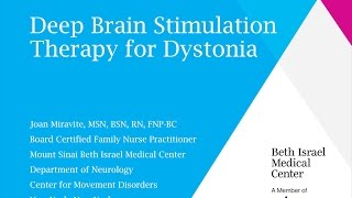 Download Deep Brain Stimulation for Dystonia - Joan Miravite, NP Video
