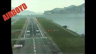 Download Landing At Hong Kong Kai Tak 20 Years Ago - IGS 13 Video