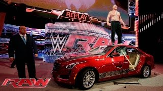 Download Brock Lesnar destroys J&J Security's prized Cadillac: Raw, July 6, 2015 Video