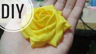 Download DIY | Cara Membuat Mawar Cubit Asahi | Tutorial Fabric Flower | Rose Video