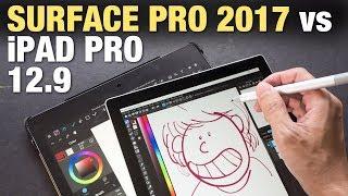 Download iPad Pro 12.9 vs Surface Pro 2017 (Artist Comparison) Video