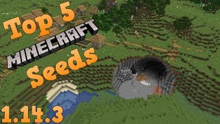 Download Top 5 EPIC Seeds for Minecraft 1.14.3 Village and Pillage Update [2019] (Part 10) Video