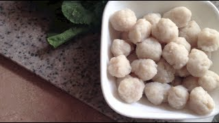 Download Thai Fish Meat Balls - Gluten Free - (ลูกชิ้นปลา) Video