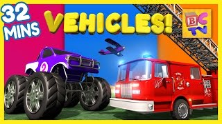 Download Fire Truck, Dump Truck, Monster Truck & More | Vehicles for Kids Collection Vol 1 Video