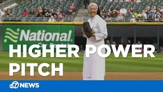 Download Nun dazzles with first-pitch strike at White Sox game Video