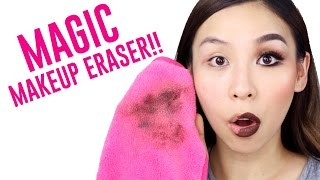 Download MAGIC CLOTH ERASES MAKEUP WITH JUST WATER!! TINA TRIES IT Video