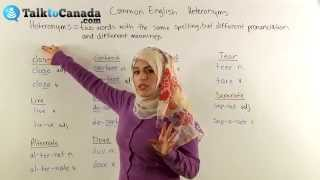 Download Learn Common English Heteronyms (Words with the Same Spelling but Different Meanings) Video