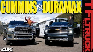 Download Does the 2020 Chevy Silverado HD Duramax CRUSH the Ram Cummins on the World's Toughest Towing Test? Video