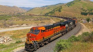 Download BNSF Military (Abrams Tanks) Train over Tehachapi Video