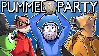 Download Pummel Party - REALLY FUN BOARD GAME! (Full Match) MOVIE TIME! Video